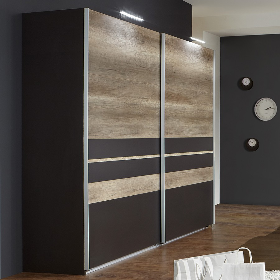 superbe armoire fly 2 portes coulissantes 6 armoire. Black Bedroom Furniture Sets. Home Design Ideas