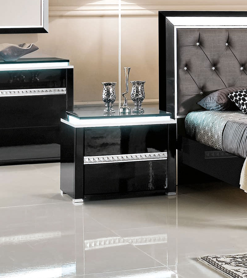 Table de nuit cube noir - Table de chevet design ...