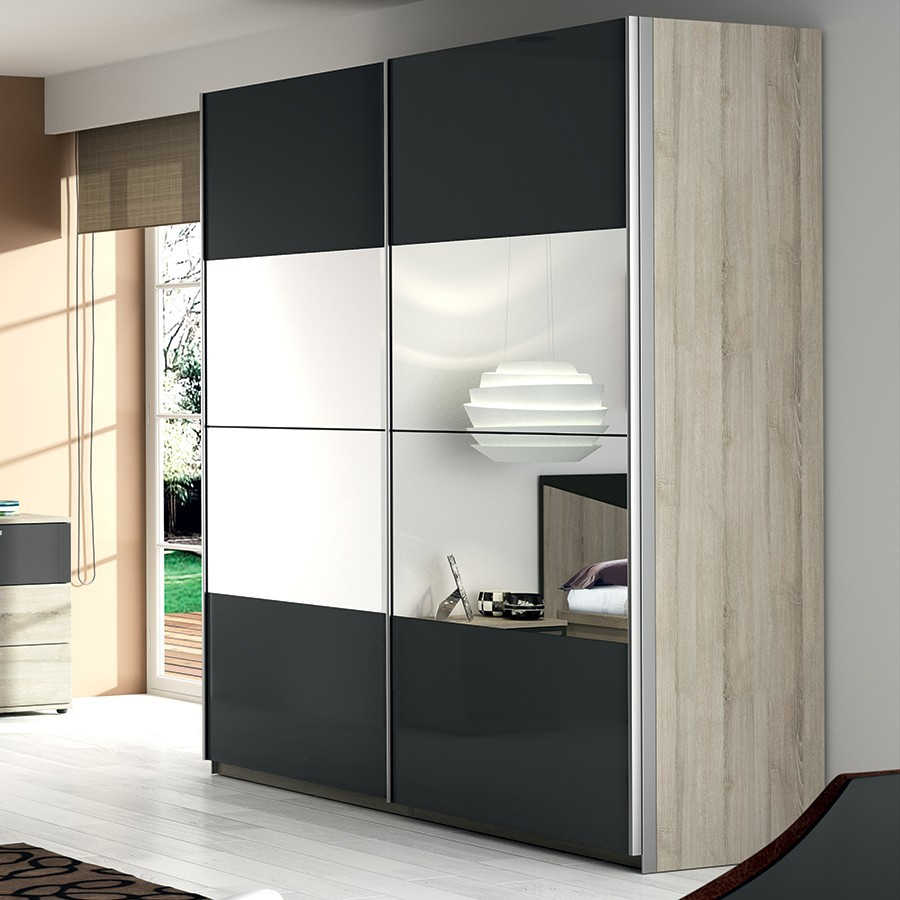 d couvrez form 1 porte de placard coulissante valla ch ne miroir 92 2x245 6 sur. Black Bedroom Furniture Sets. Home Design Ideas