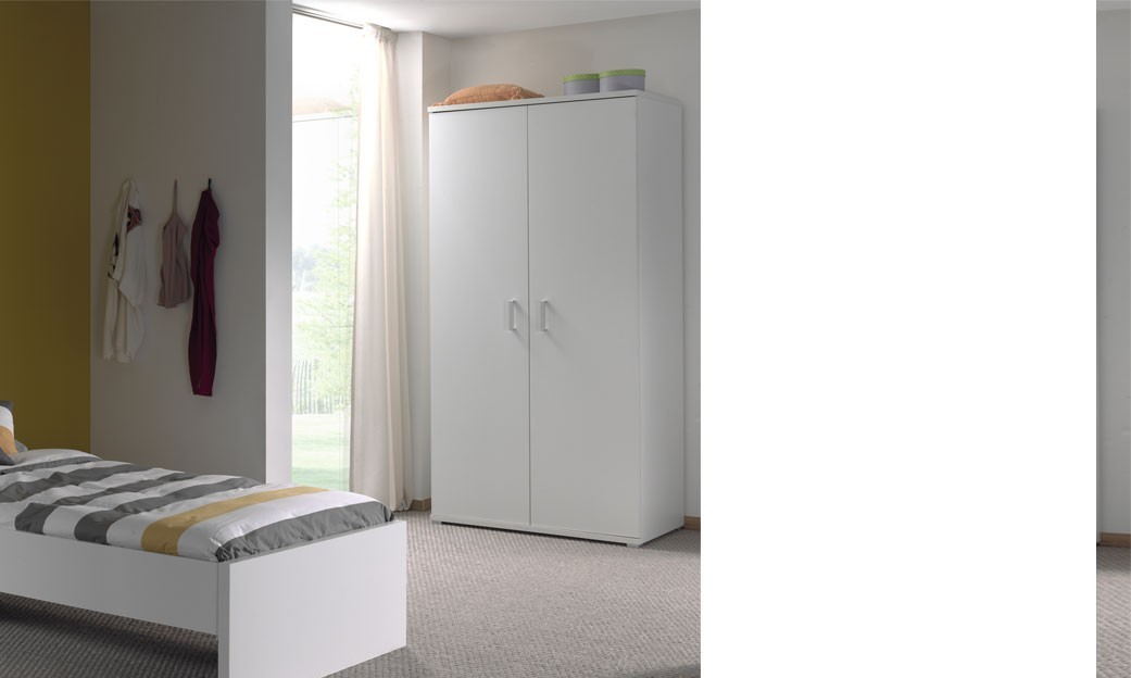 Armoire enfant blanche moderne GREGORY