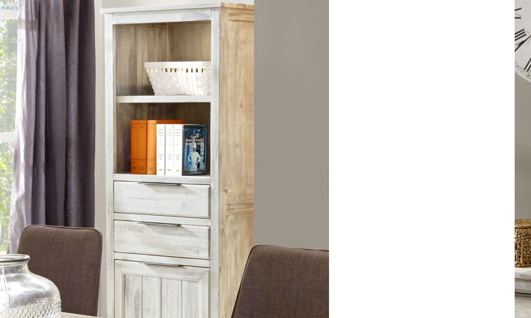 biblioth que contemporaine en bois massif avec clairage led gotham. Black Bedroom Furniture Sets. Home Design Ideas