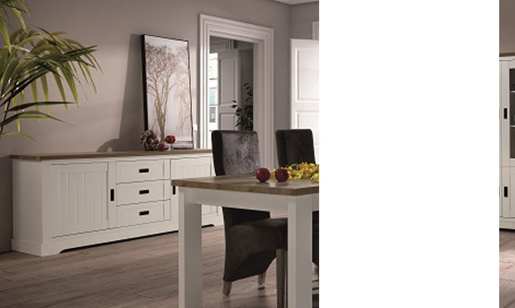 buffet bahut couleur bois blanc et clair contemporain jackson. Black Bedroom Furniture Sets. Home Design Ideas