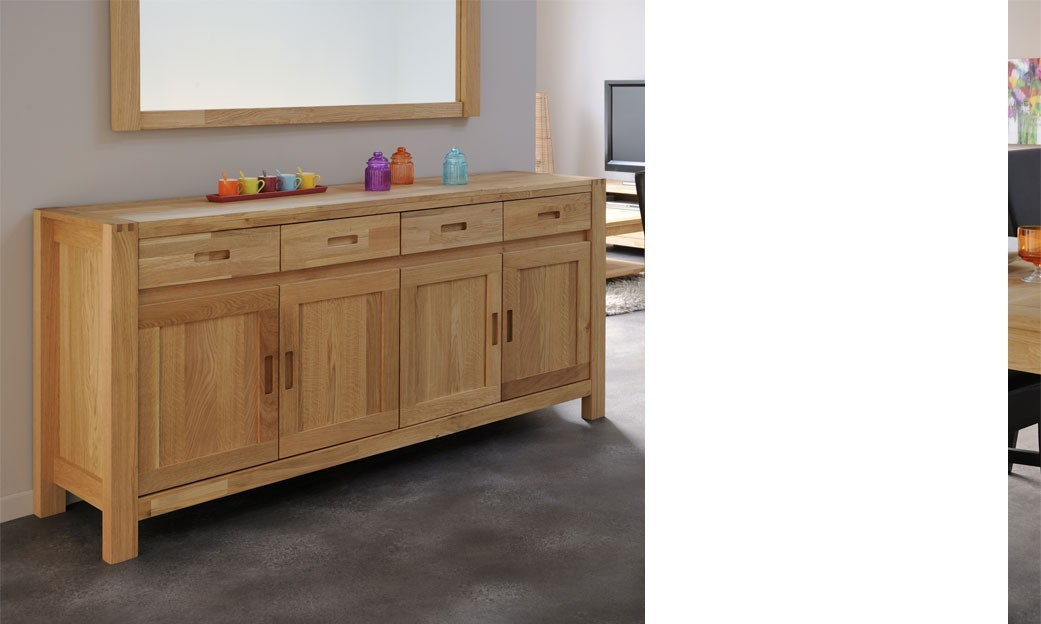 Buffet enfilade contemporain en ch ne tucker - Buffet chene massif contemporain ...