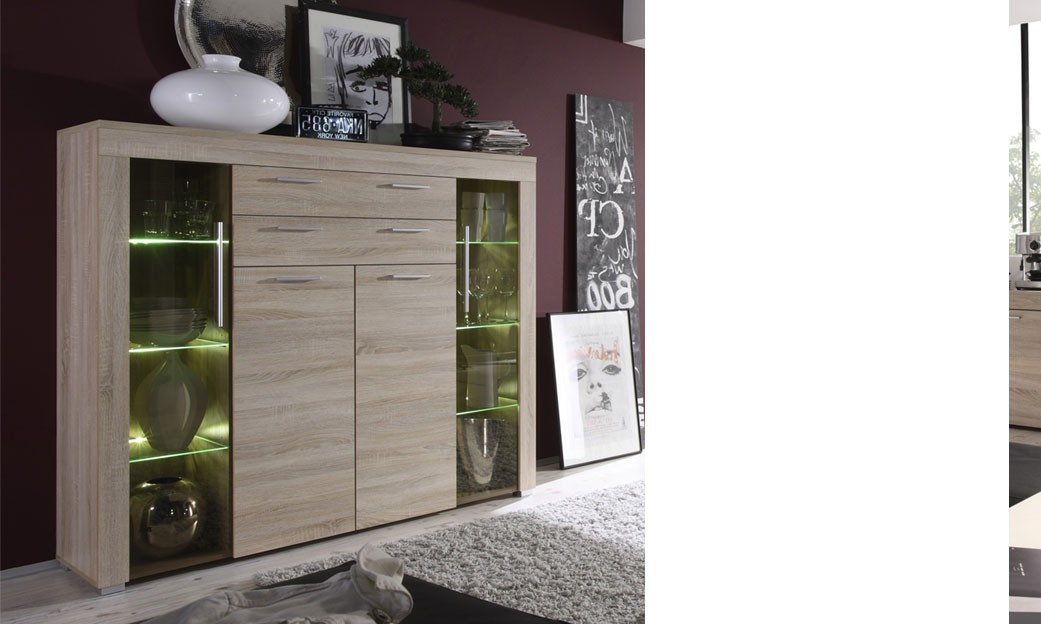 vaisselier moderne couleur ch ne clair crossing. Black Bedroom Furniture Sets. Home Design Ideas