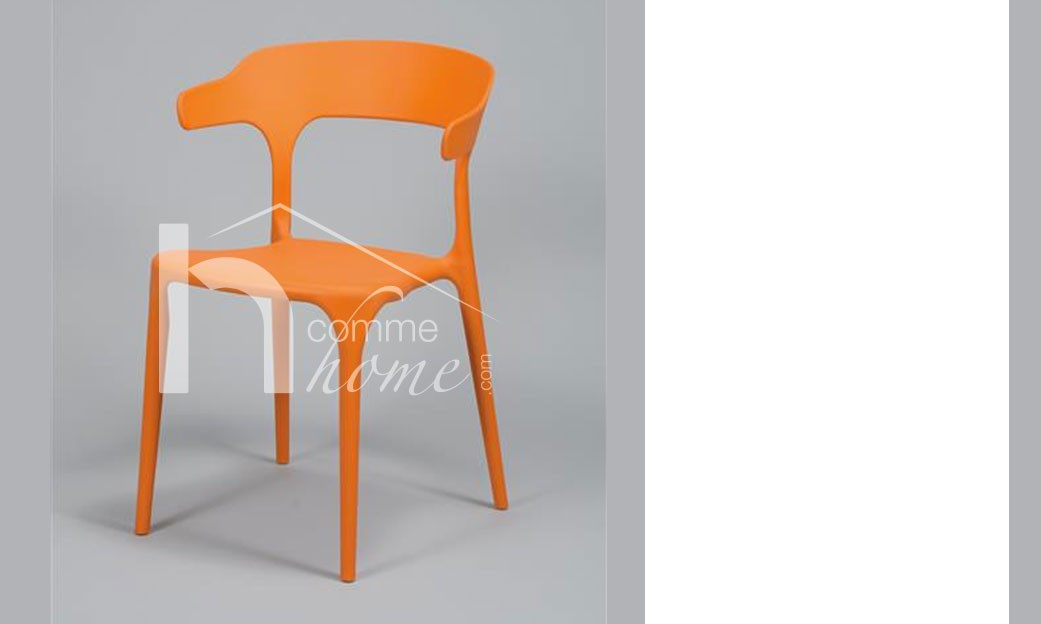Chaise design orange MORA