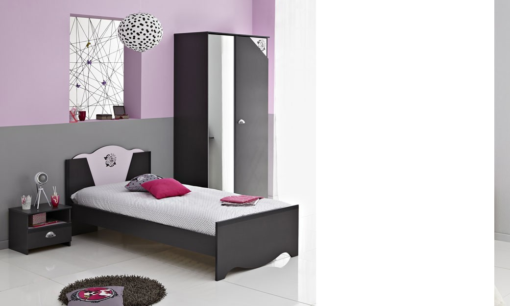 chambre gris et rose ado avec des id es int ressantes pour la conception de la. Black Bedroom Furniture Sets. Home Design Ideas