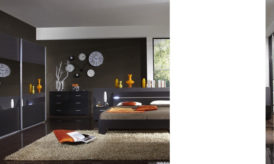 Chambre parentale contemporaine id es de d coration et for Chambre complete adulte solde