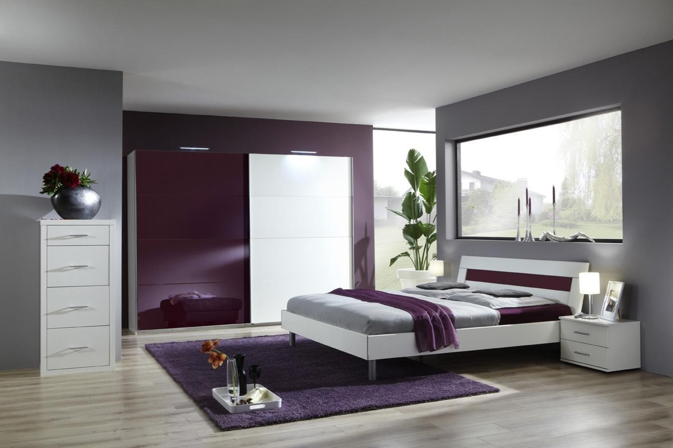 Chambre romantique moderne for Photo chambre moderne adulte