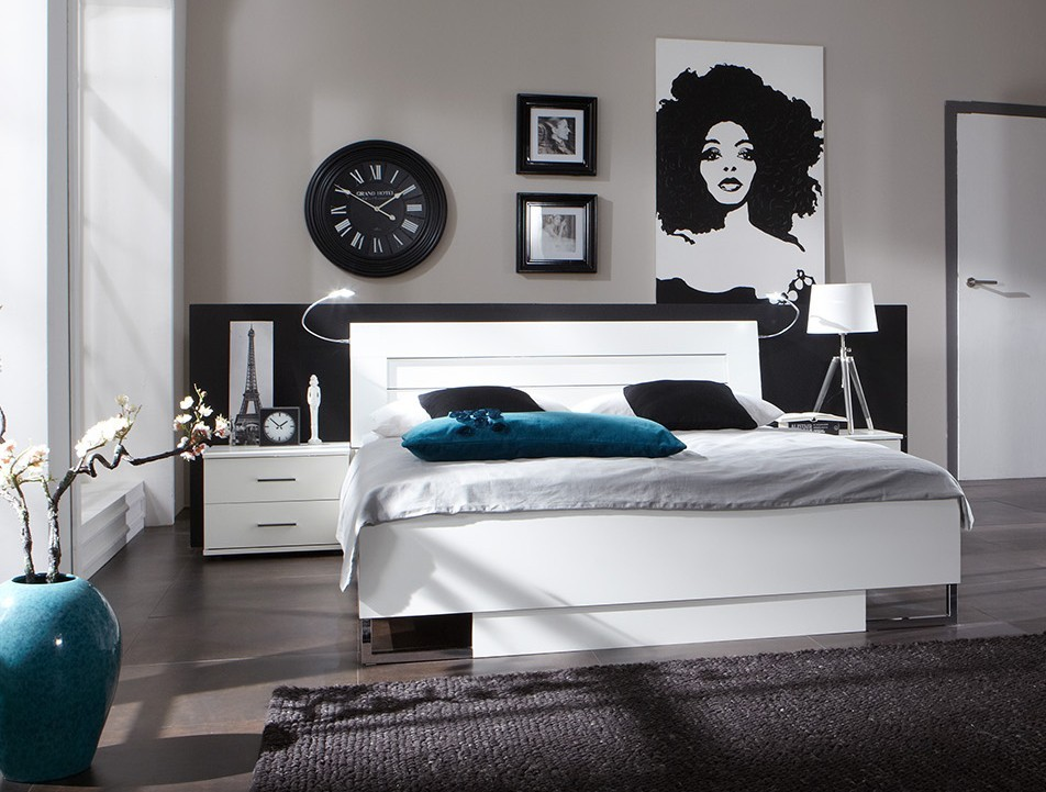 chambre adulte design blanc. Black Bedroom Furniture Sets. Home Design Ideas