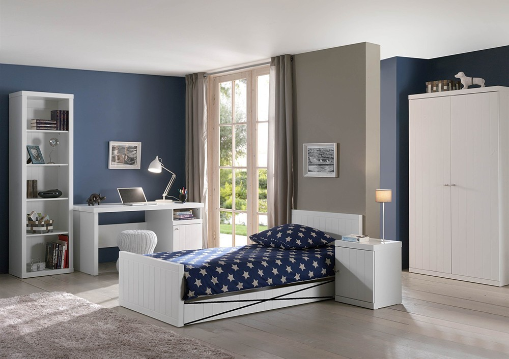 chambre enfant complete blanche robinson zd1 ch e c. Black Bedroom Furniture Sets. Home Design Ideas