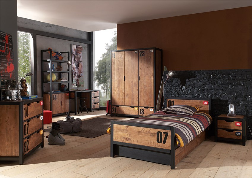 Decoration Chambre Adulte Marron Contemporaine : Chambre enfant complete contemporaine industry zd ch ado