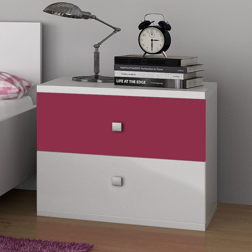 table de chevet fushia. Black Bedroom Furniture Sets. Home Design Ideas