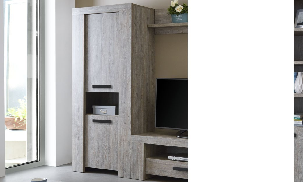 buffet haut contemporain couleur ch ne brut gand. Black Bedroom Furniture Sets. Home Design Ideas