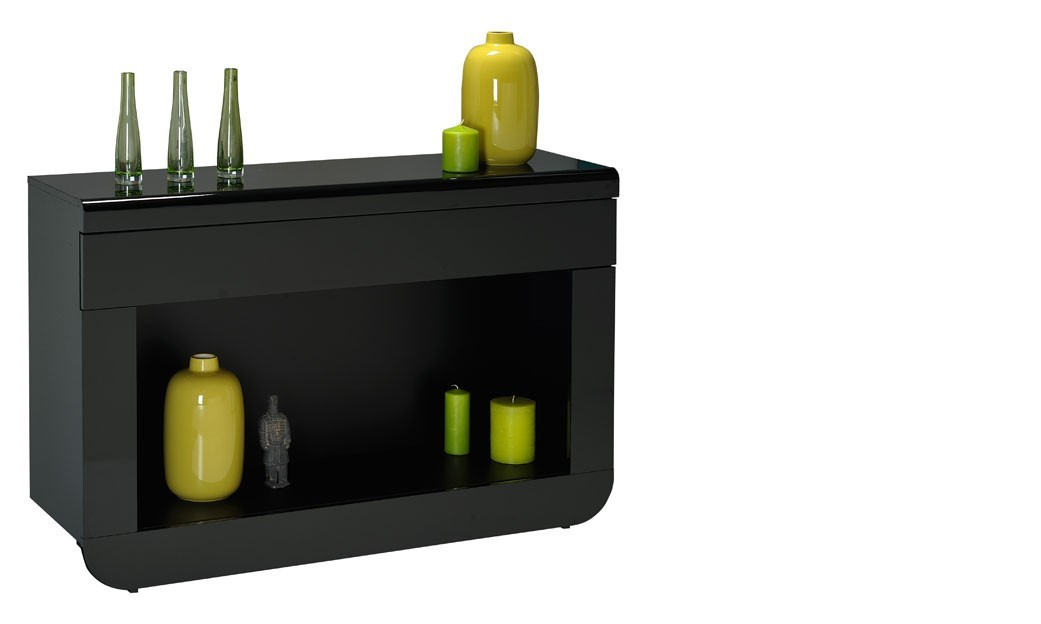 Console noir laqué design LED en option DIXON