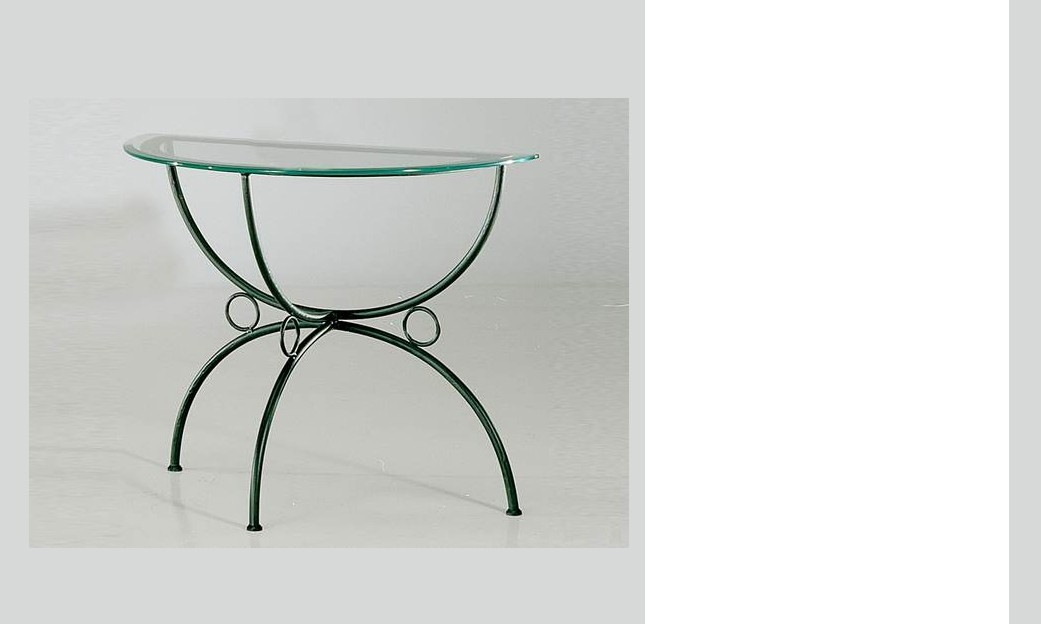 Console de table demi-lune en fer forgé KAREN