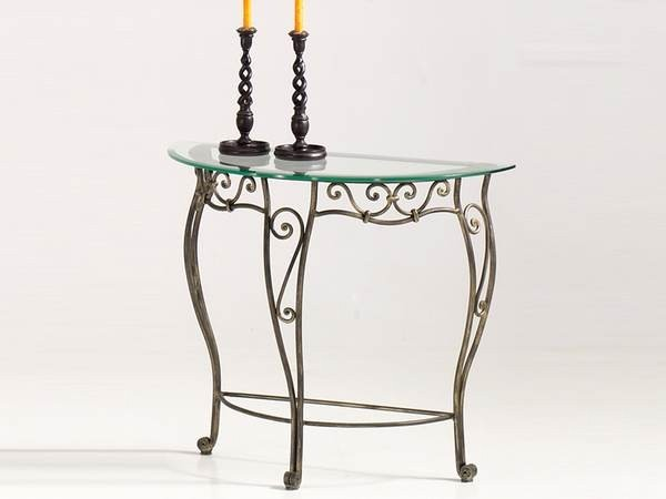 Console fer forge veronique zd1 consol d t ff - Table de chevet fer forge ...
