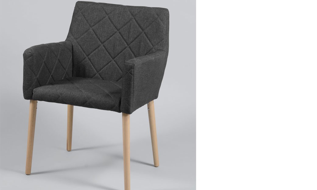 Fauteuil anthracite design FRIG