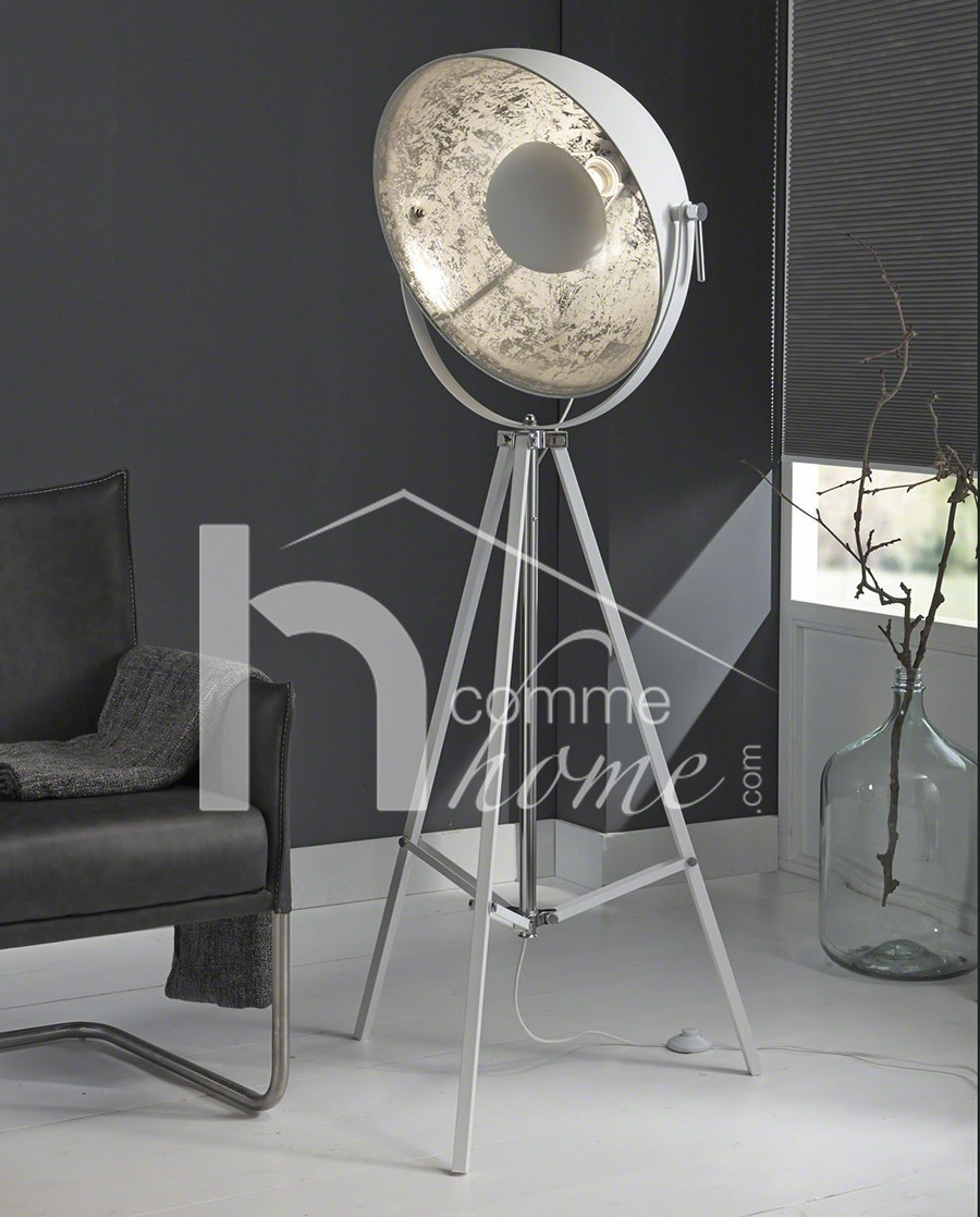 Lampadaire design sur trepied blanc spoty zd1 lamp d - Lampadaire studio photo ...