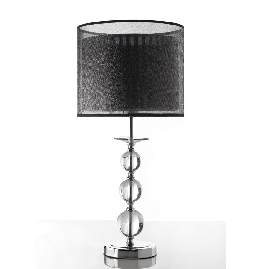 lampe a poser design avec abat jour noir bulle zd1 lamp p. Black Bedroom Furniture Sets. Home Design Ideas