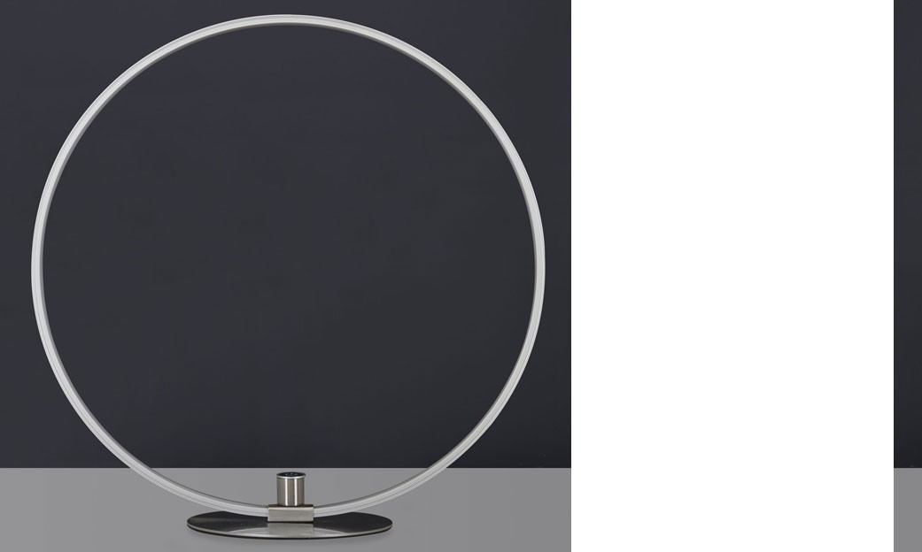 Lampe à poser design circulaire en nickel éclairage LED CIRCA