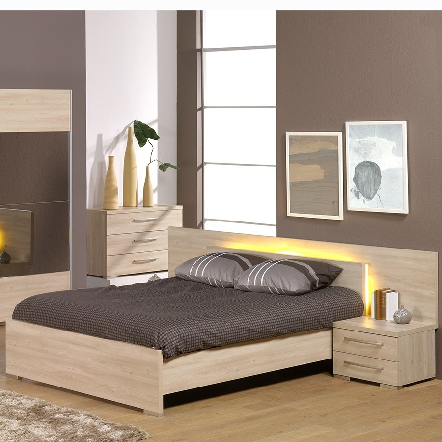 Eclairage chambre adulte for Lit adulte avec commode