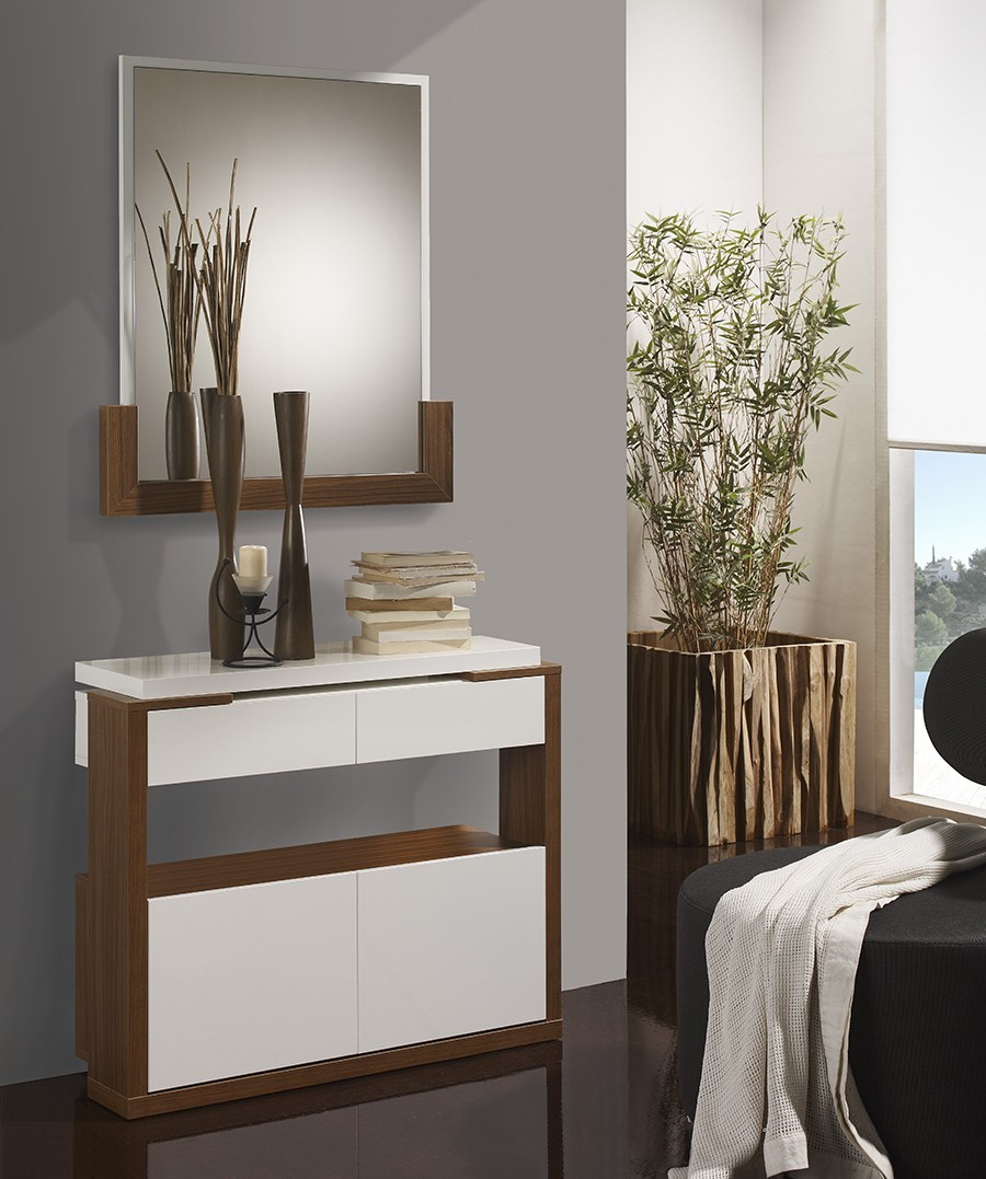 meuble d entree moderne adele. Black Bedroom Furniture Sets. Home Design Ideas