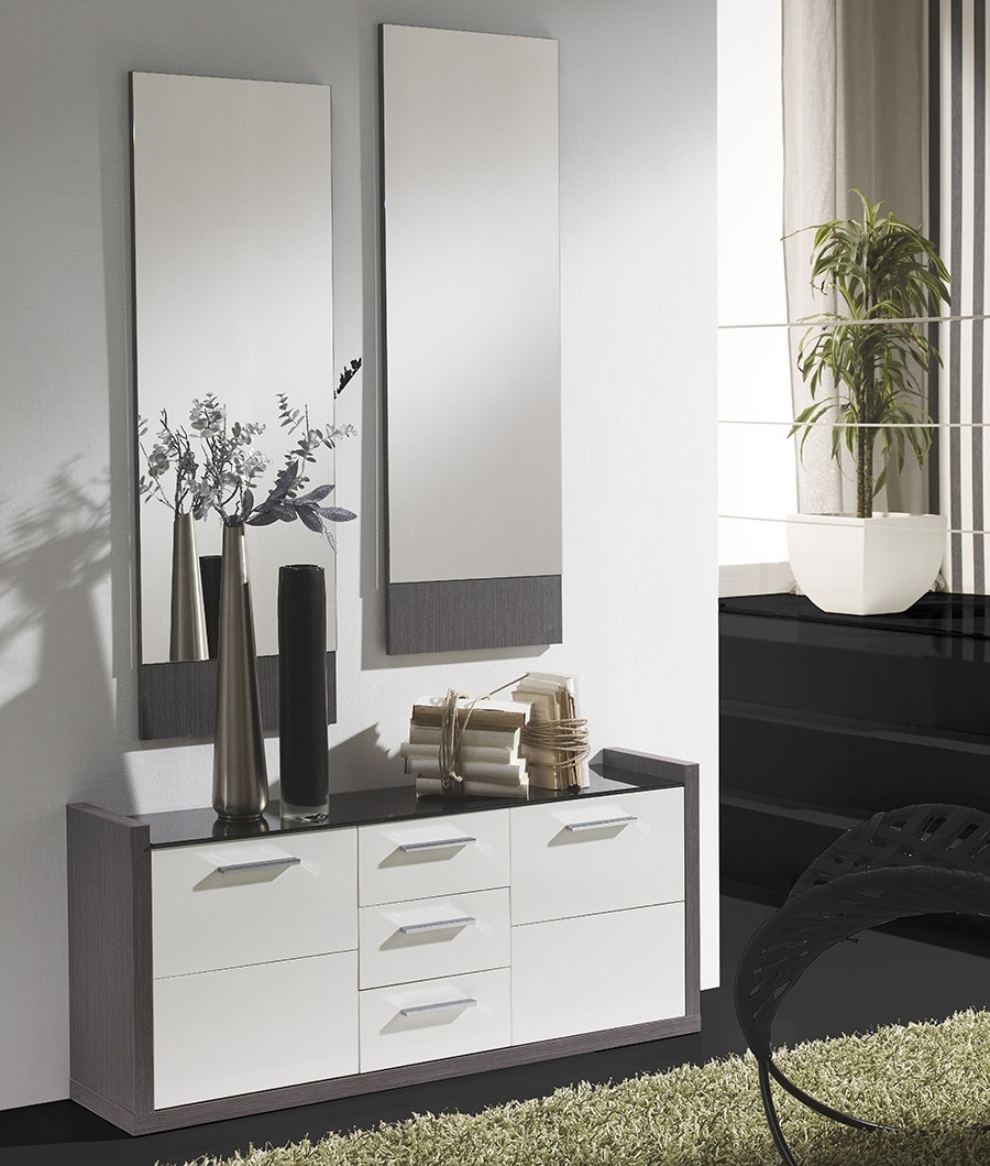 meuble d entree moderne ludivine zd1 meu dentr. Black Bedroom Furniture Sets. Home Design Ideas