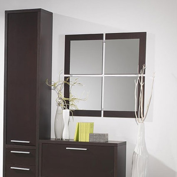 meuble entree miroir wenge janice zd1 meu dentr. Black Bedroom Furniture Sets. Home Design Ideas