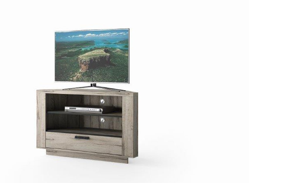 Meuble tv angle gris maison design - Meuble d angle tv but ...