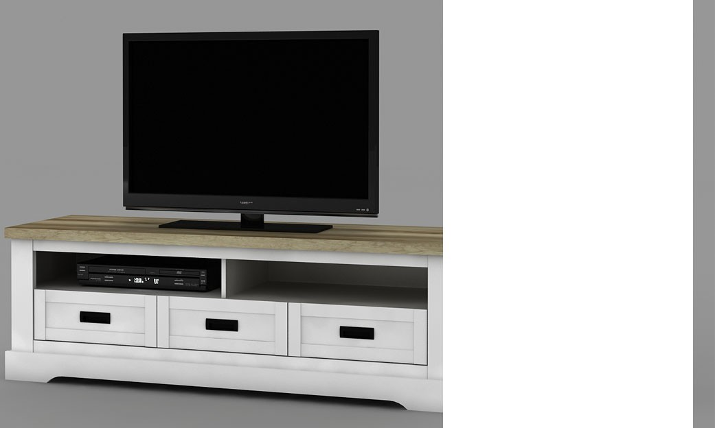 meuble tv couleur bois blanc et clair contemporain jackson. Black Bedroom Furniture Sets. Home Design Ideas