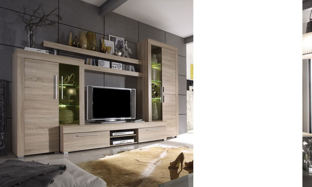 Ensemble meuble t l moderne ultra tendance crossing for Ensemble meuble tv bois