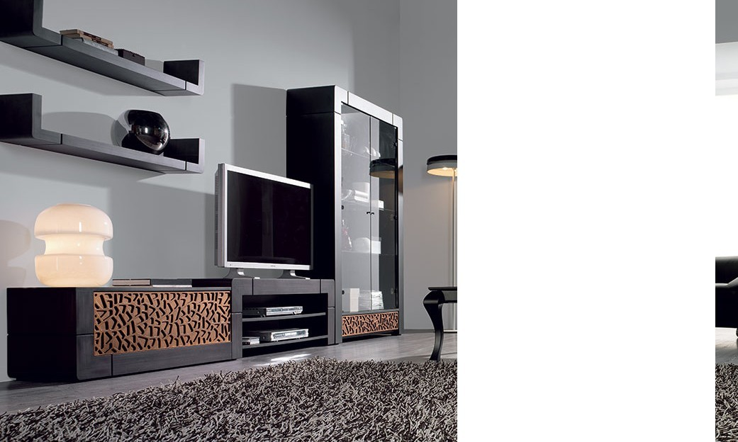 un lit moderne avec rangement tv. Black Bedroom Furniture Sets. Home Design Ideas