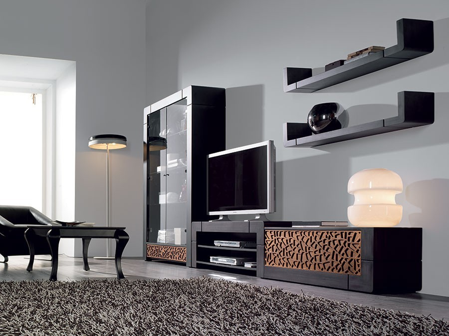 meuble tv contemporain cameron zd2 m tv c. Black Bedroom Furniture Sets. Home Design Ideas