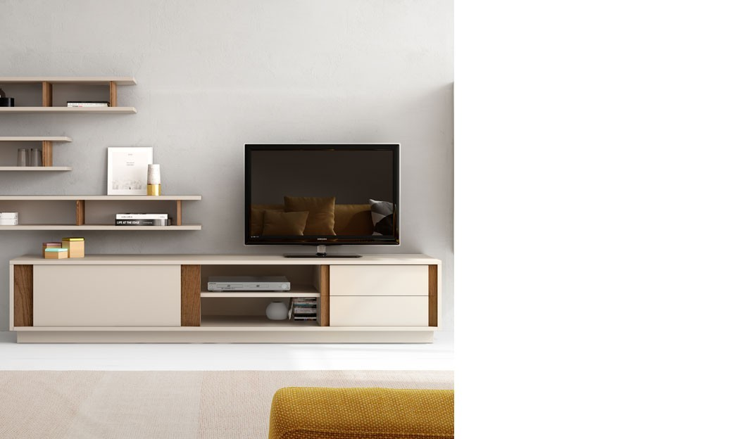 Meuble tv scandinave solde solutions pour la d coration for Meuble tv beige