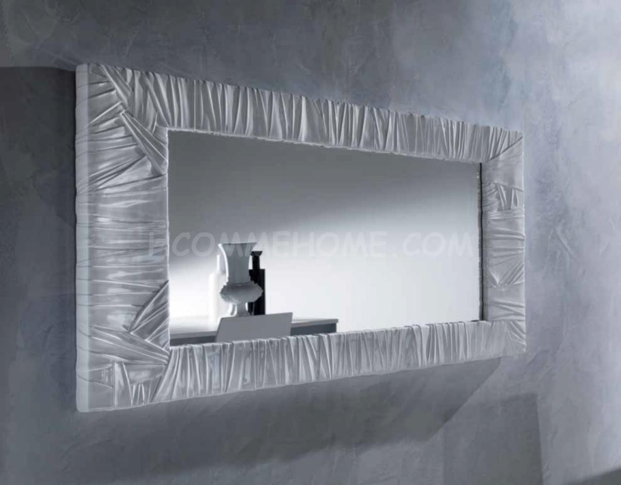 Miroir mural design argente folda zd1 mir sam d for Miroir en long