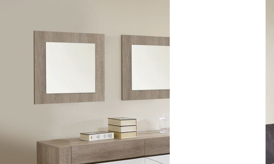 miroir carr moderne couleur ch ne gris xavier. Black Bedroom Furniture Sets. Home Design Ideas