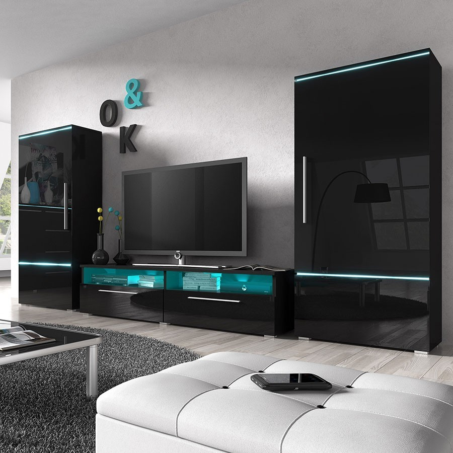 Meuble tv led pas cher for Meuble de tele design