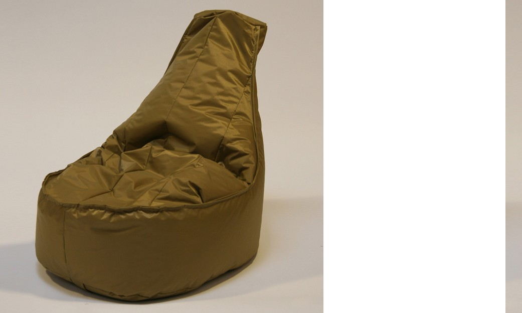 Pouf chaise en nylon FUN, coloris Camel