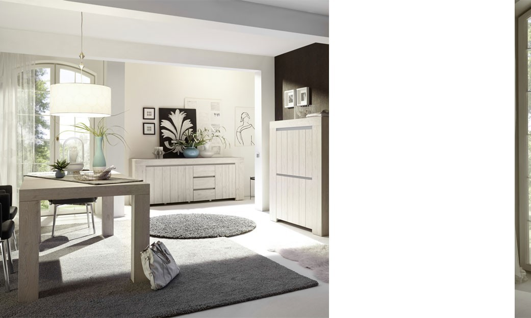 salle manger compl te couleur ch ne clair contemporaine. Black Bedroom Furniture Sets. Home Design Ideas