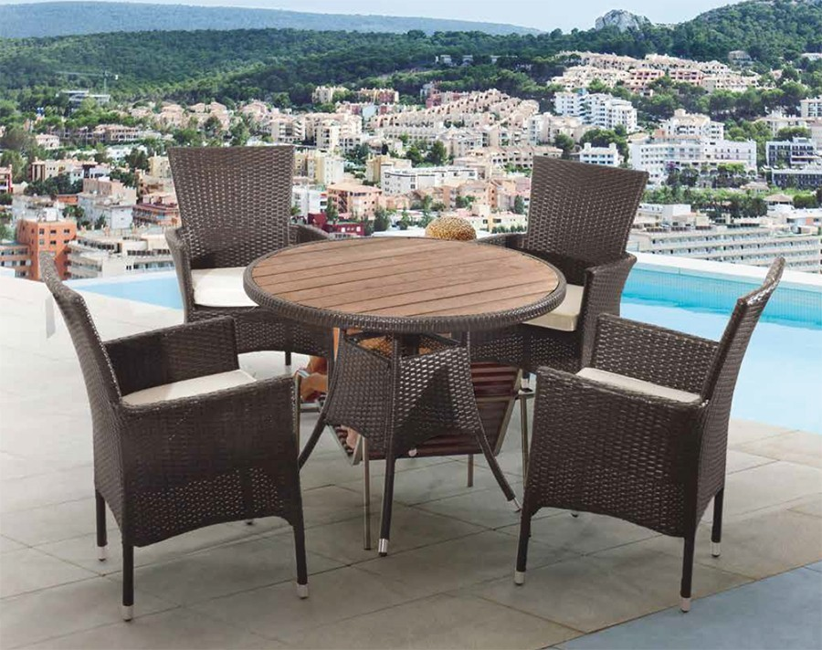 salon de jardin table ronde resine tressee. Black Bedroom Furniture Sets. Home Design Ideas