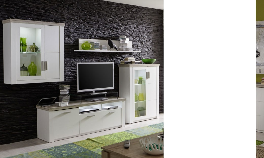 photo salon blanc et bois avec des id es. Black Bedroom Furniture Sets. Home Design Ideas