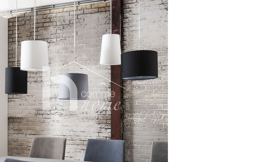 Suspension design blanche, noire et grise WINTER
