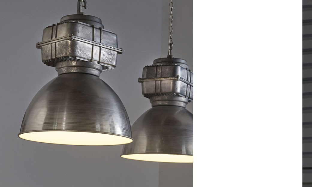 Suspension industrielle 2 lampes grises ISAC