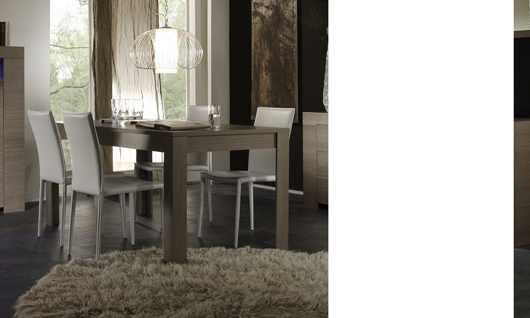 Table de salle à manger contemporaine TOSCANE, disponible en 2 dimensions
