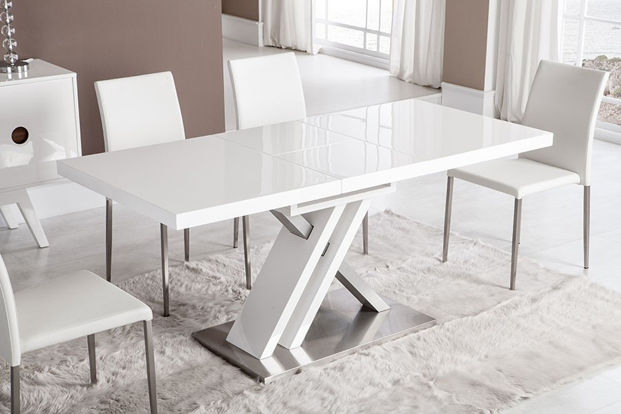 Table a manger design bernie zd1 tab r d - Table carree avec rallonge design ...