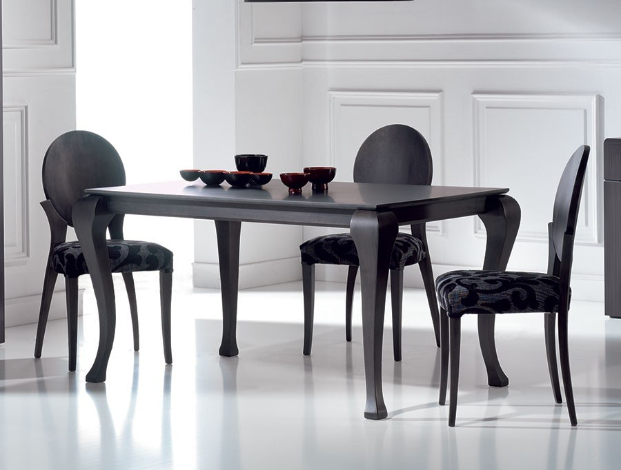 Table a manger noir for Table a manger soldes