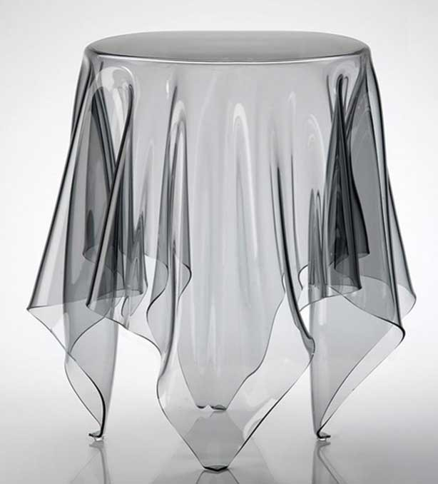 Table appoint polycarbonate transparent elfie zd1 tab ap d for Table d appoint transparente