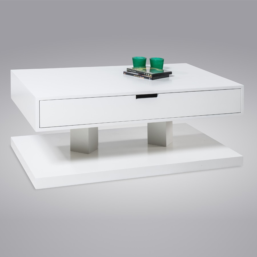 Table basse laqu e blanche gascity for - Table basse blanche laquee ...