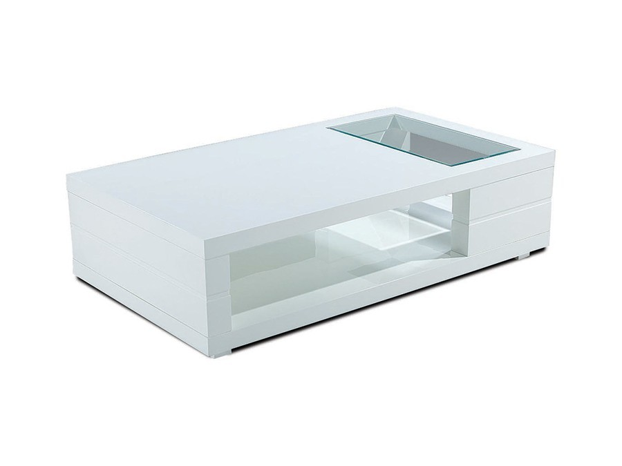 Table basse design blanche tapas zd1 tbas d - Table basse design blanche ...