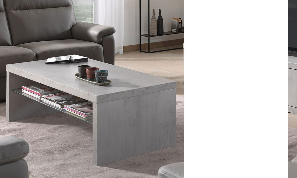 Table basse salon effet beton - Table basse de couleur ...